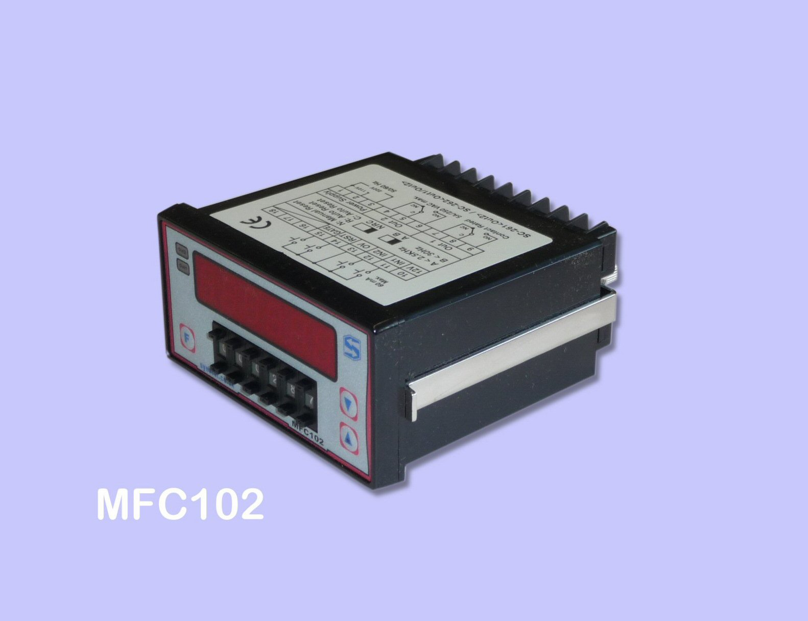 MFC102 counter front view